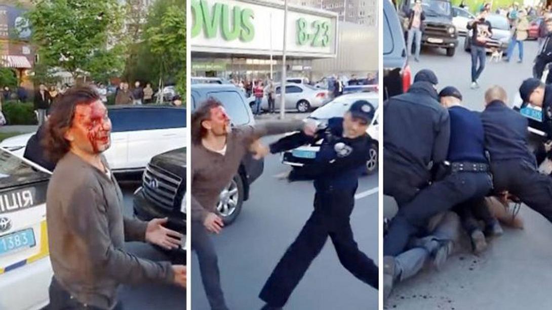 Brutaler Street Fight: Olympiasieger  vs. 7 Polizisten
