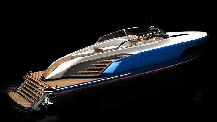 Aeroboat von Rolls Royce: Eine Yacht mit klaren Formen und schlichtem Design