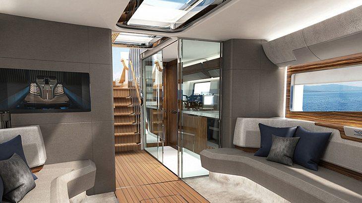 Blick ins Innere der Luxus-Yacht von Rolls Royce