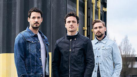 Roman Bürki, Marcel Schmelzer und Thomas Delaney für G-Star - Foto: G-Star Presse