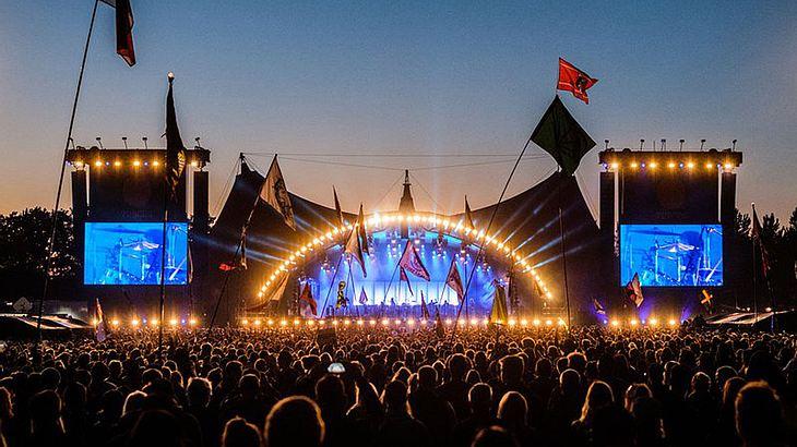 Das Roskilde Festival in Dänemark.