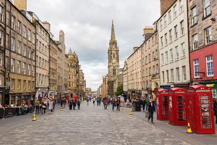 Die Royal Mile in Edinburgh.