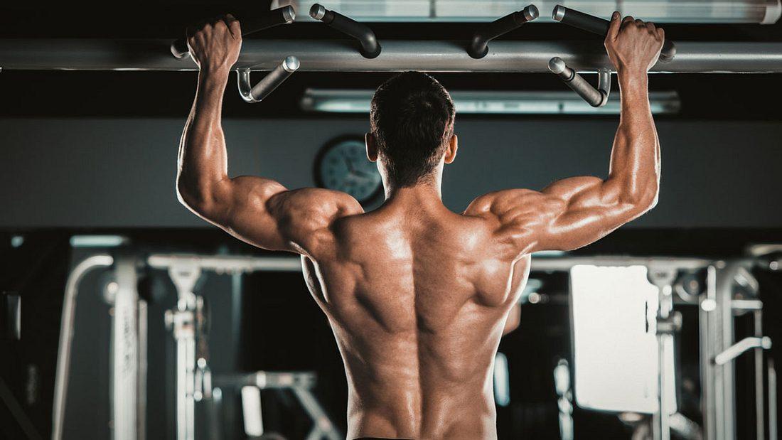 Ein muskulöser und durchtrainierter Rücken