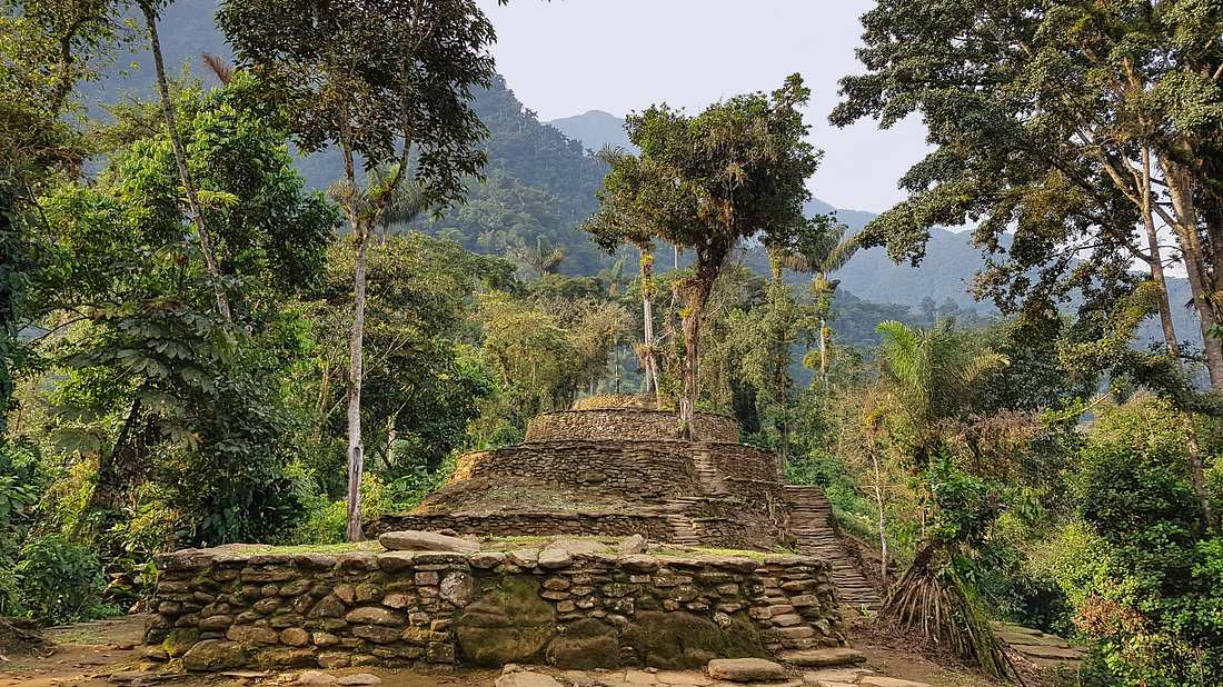 Ruinen einer antiken Stadt in Kolumbien