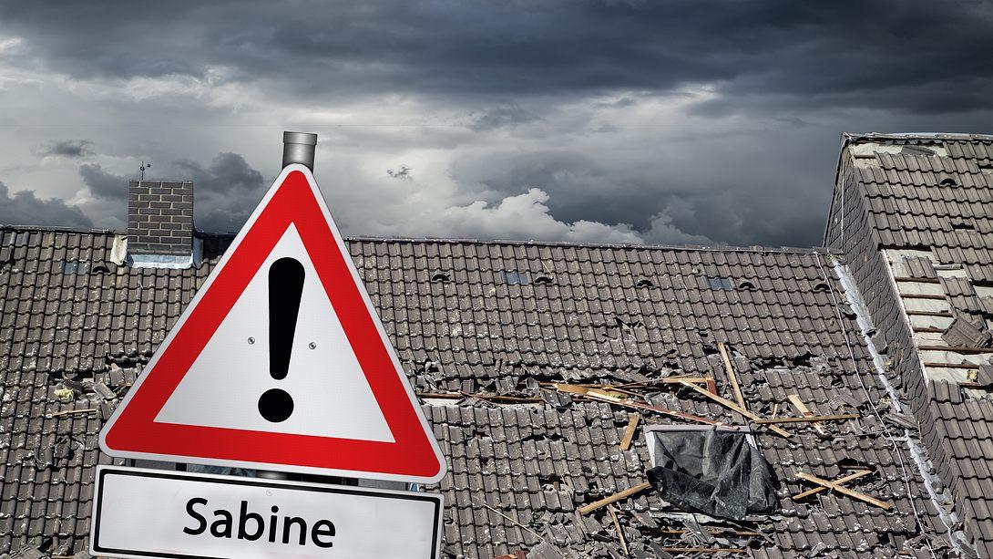 Lebensgefahr am Sonntag: Sabine kommt heftig