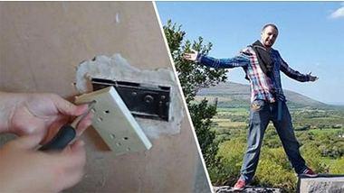 Mann findet geheimen Safe hinter Steckdose in seinem Haus