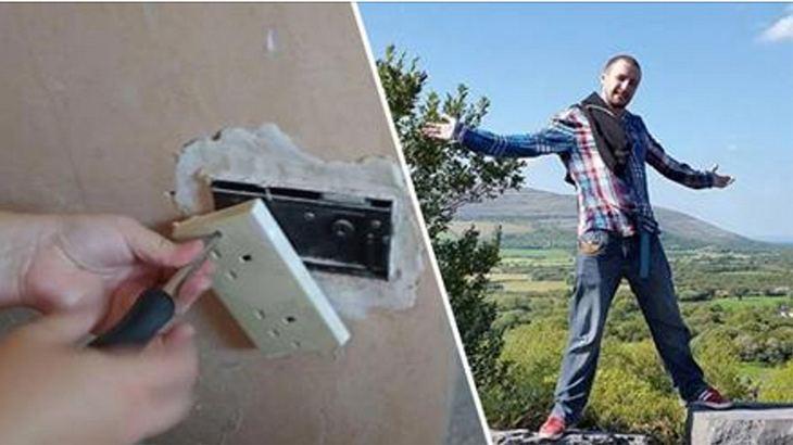 Euan Wright entdeckte einen geheimen Safe hinter einer Steckdose in seinem Haus