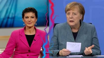 Sahra Wagenknecht und Angela Merkel - Foto: IMAGO / Jürgen Heinrich; sepp spiegl