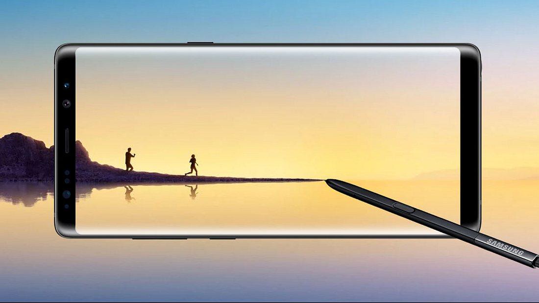 Superscharfes Display: das Samsung Galaxy Note 8