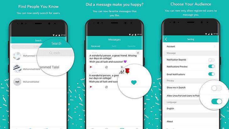 Sarahah: Diese App lässt Nutzer öffentlich Personen bewerten