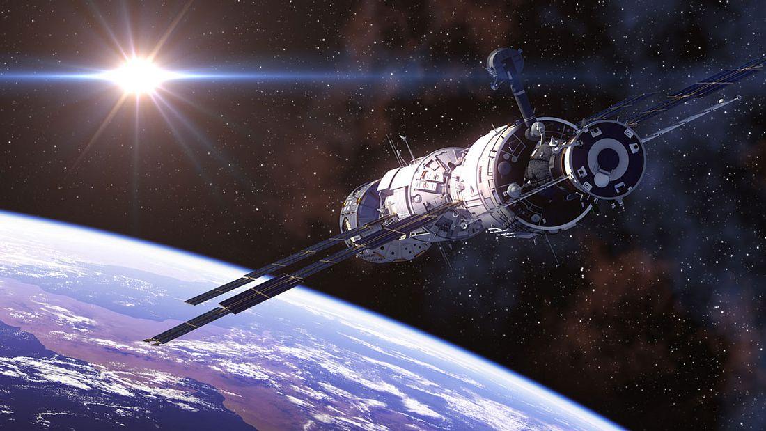 International Space Station im Weltall