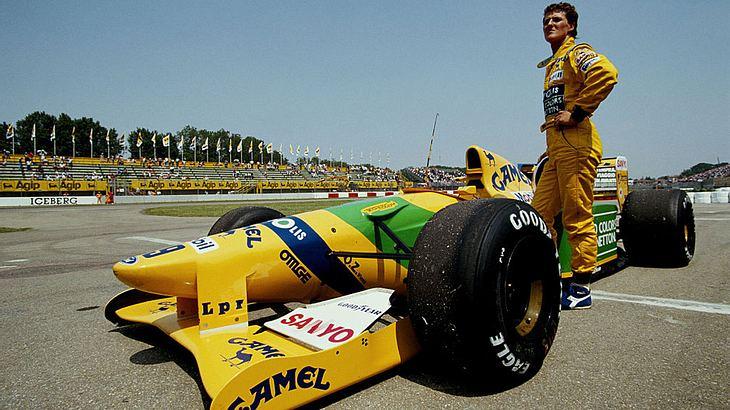 Michael Schumacher 1992 in Imol, San Marino.