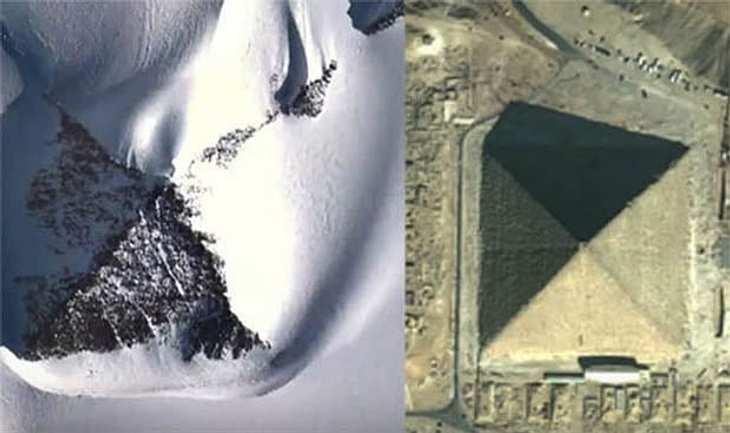 Forscher haben in der Antarktis drei mysteriöse Schnee-Pyramiden entdeckt