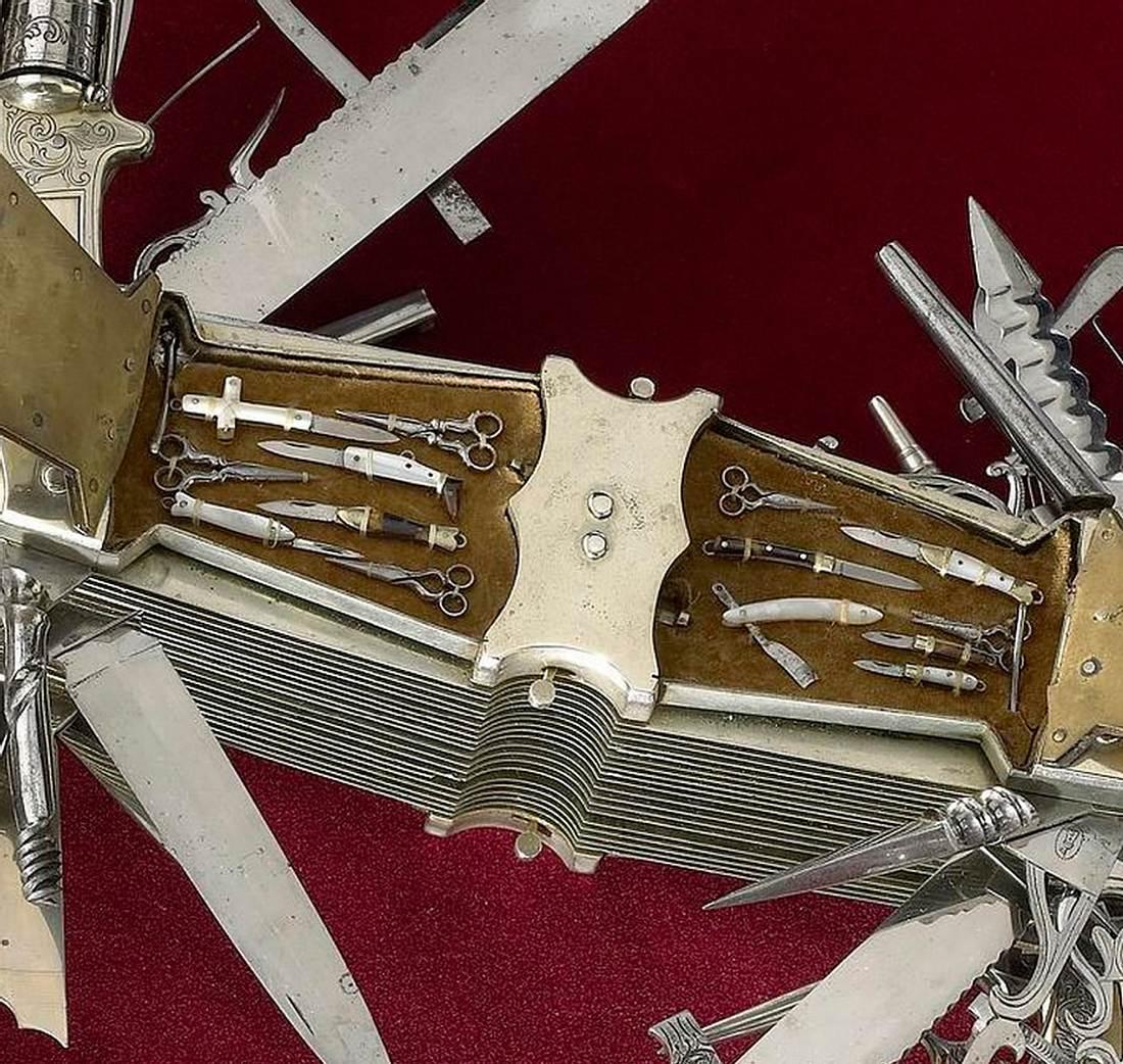 Dieses Schweizer Taschenmesser hat 100 Klingen und einen .22-Kaliber-Revolver