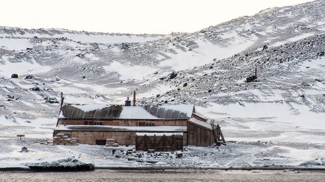 Stotts Hütte auf Ross Island