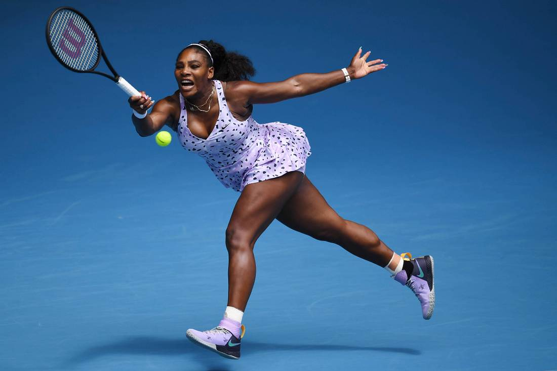 Serena Williams beim Tennisspielen