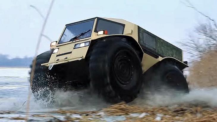 Sherp ATV: Dieser russische Amphibien-Offroader kennt kein Hinderniss