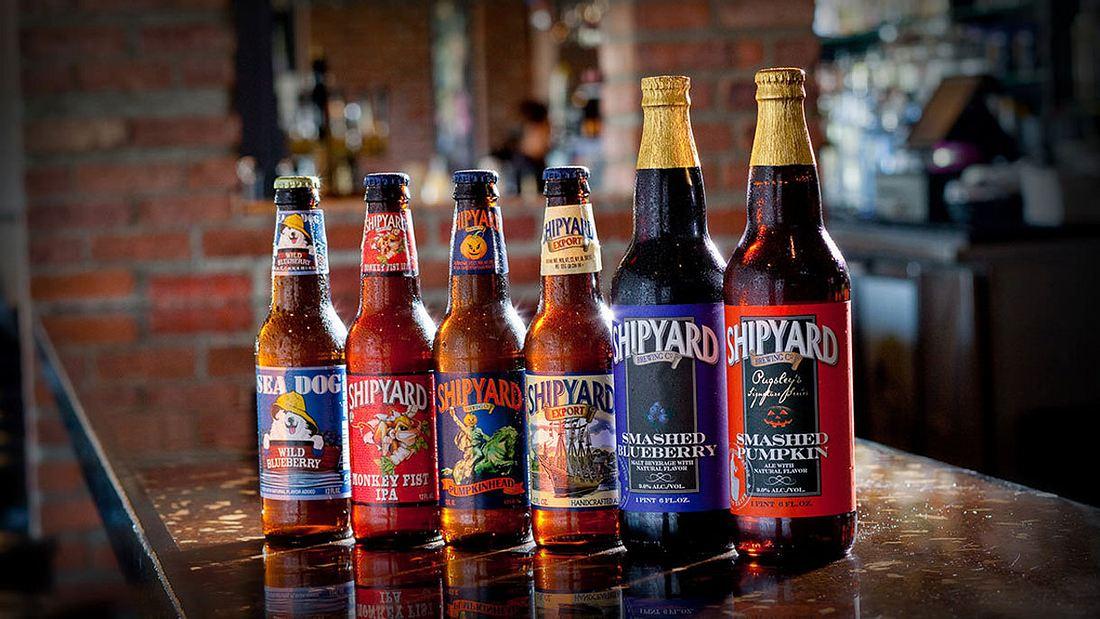 Vielfältiges Biersortiment von Shipyard