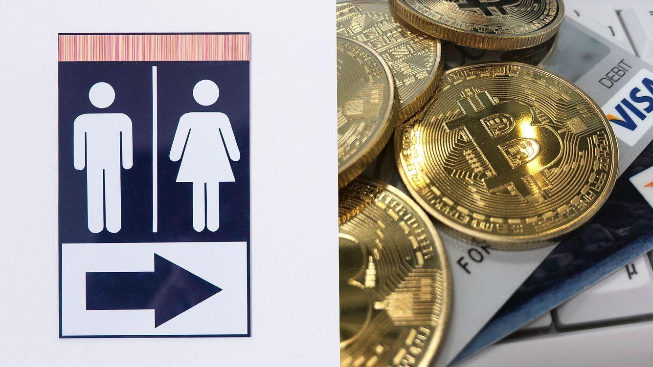 Toilette und Bitcoins