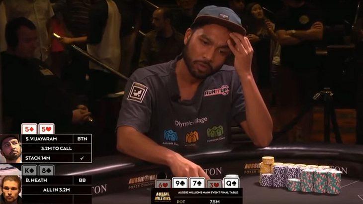 Shurane Vijayaram gewinnt Aussie Millions Poker Championschip 2017