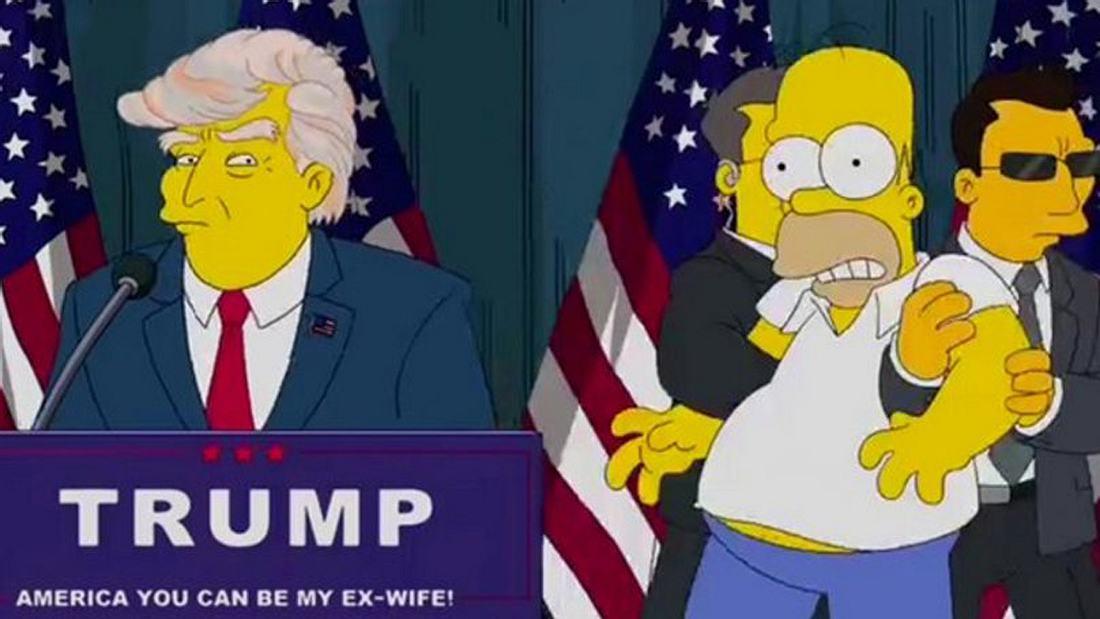 Die Simpsons haben den Wahlsieg 2016 von Donald Trump vorausgesagt