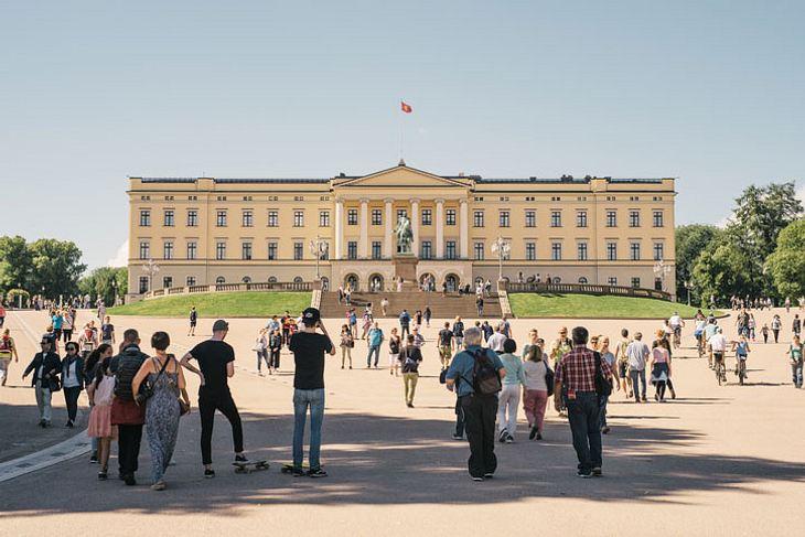 Das Königliche Schloß in Oslo.