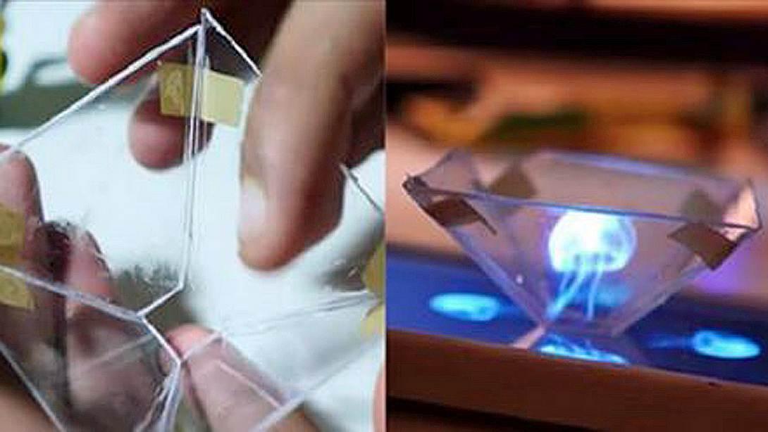 So wird dein Smartphone zu einem 3D-Hologramm-Projektor