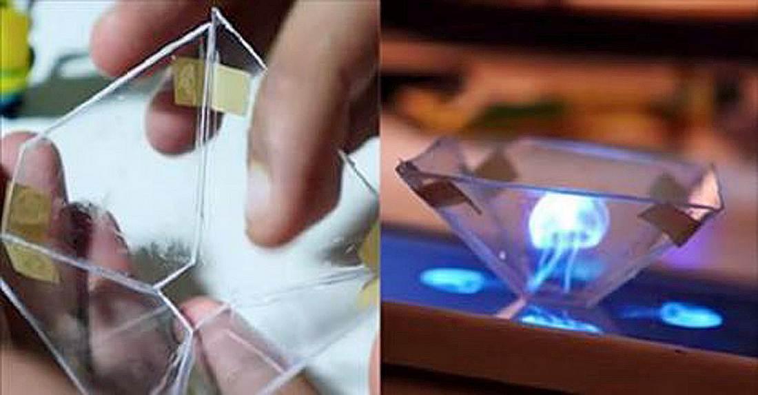 Wie man mit einem Smartphone 3D-Hologramm erzeugt