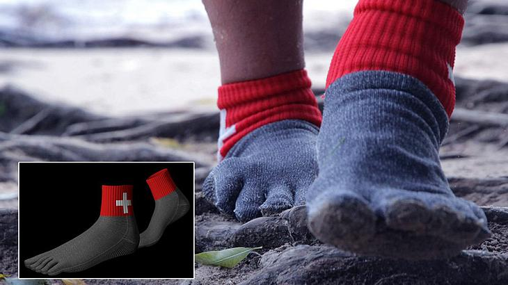 Die Free Your Feet (FYF) Socken der Schweizer Barefoot Company sollen 15 Mal stärker als Stahl sein