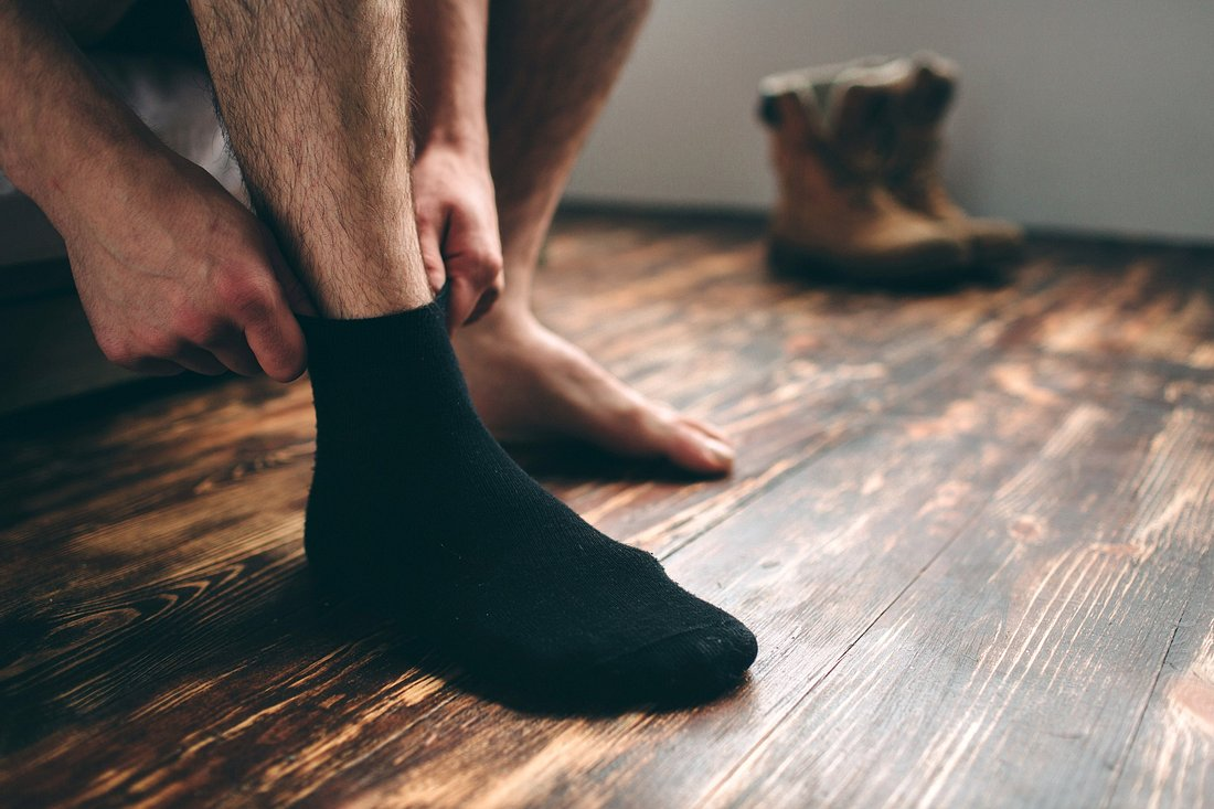 Socken gegen Schweißfüße