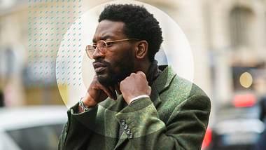 Mann mit Sonnenbrille - Foto: getty images / Edward Berthelot, Collage / bearbeitet durch Männersache