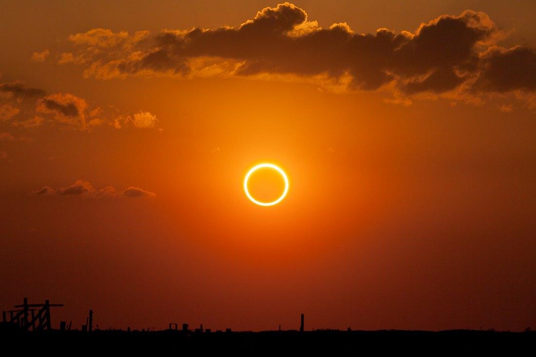 Das Foto einer Sonnenfinsternis
