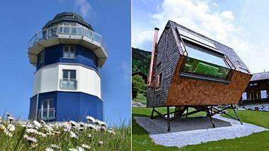 Ferienhäuser in Deutschland - Foto: Booking via Holidu, e-domizil via Holidu, Collage bearbeitet von Männersache.de
