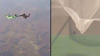 Mann überlebt ersten Sprung aus Flugzeug ohne Fallschirm unverletzt