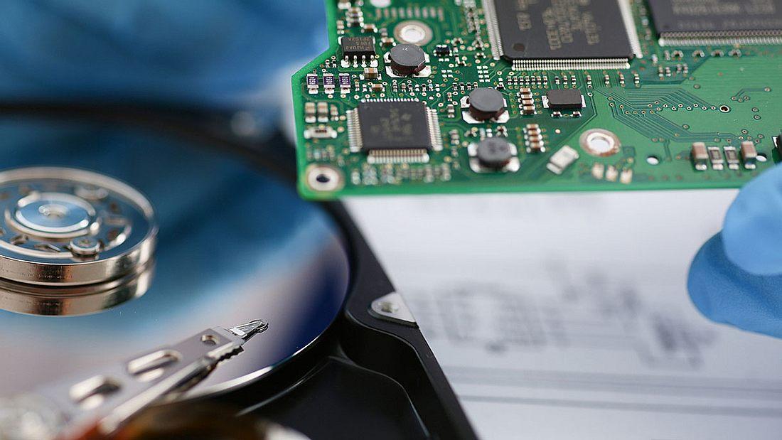 SSD- vs. HDD-Festplatte