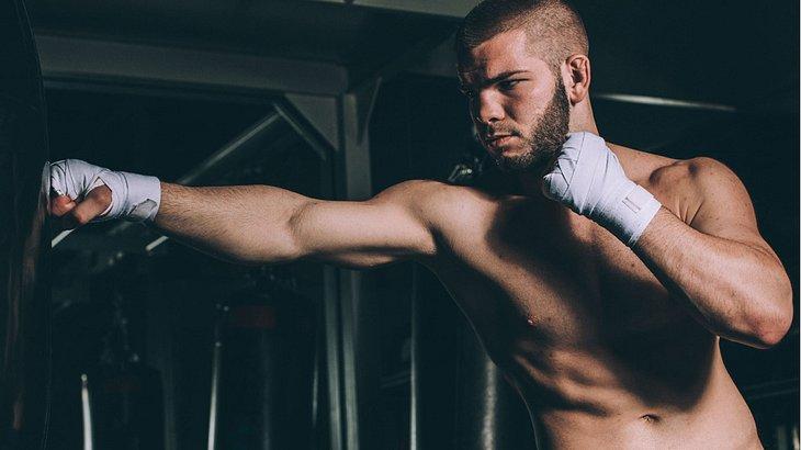 Ein Standboxsack als Trainingsparnter