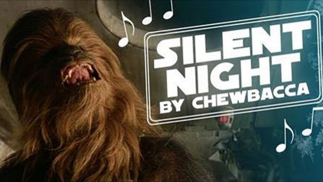 Star Wars Chewbacca singt Stille Nacht in diesem Video