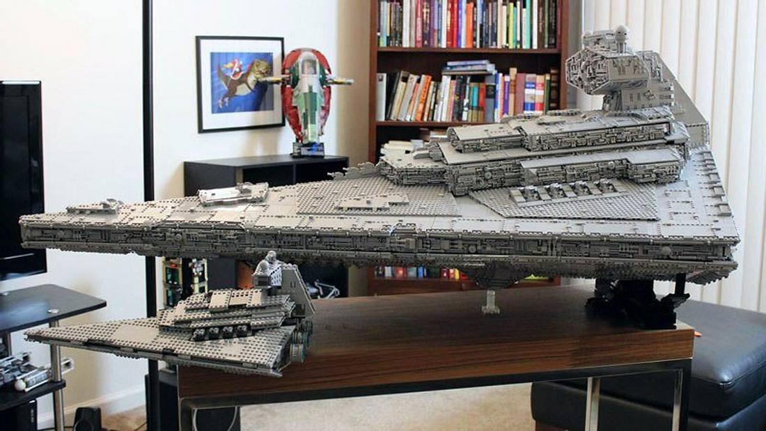 Imgur-User und Star-Wars-Fan doomhandle hat einen Sternenzerstörer aus LEGO gebaut