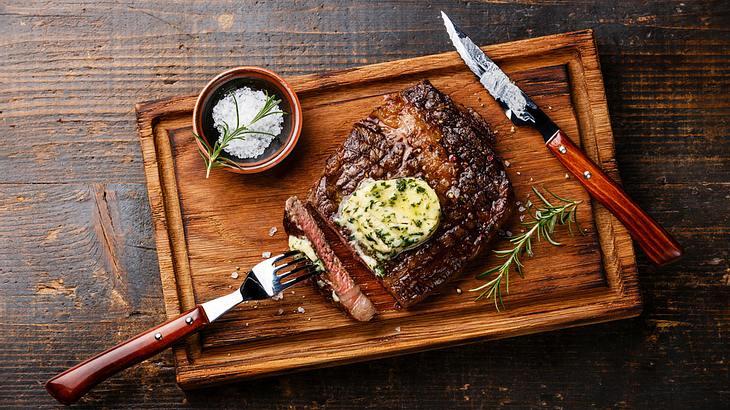 Steak und Kräuterbutter - eine perfekte Kombi