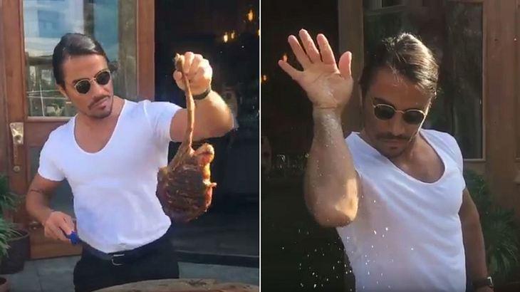 Dieses Video eines Mannes, der ein Steak sexy schneidet und salzt, avancierte zum viralen Internet-Hit