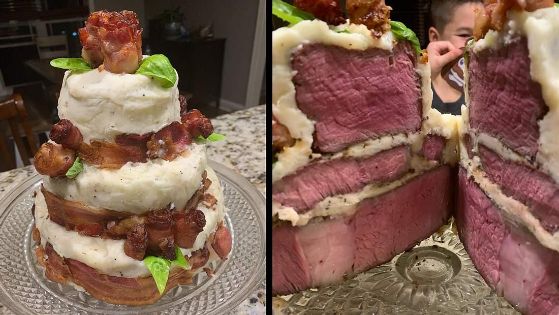 Steak-Torte