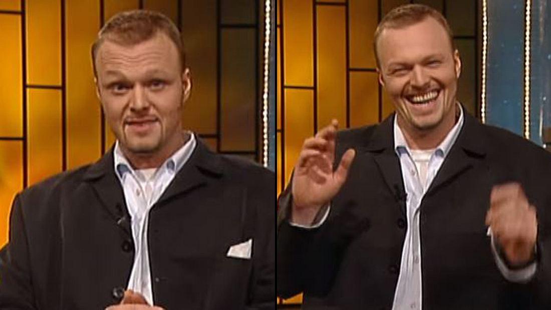 Stefan Raab in seiner ersten TV total-Sendung