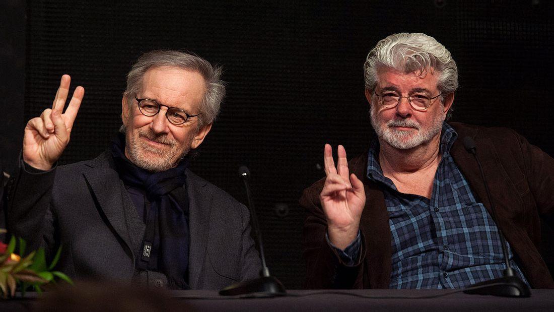 Steven Spielberg (links) und George Lucas