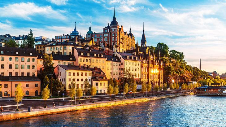 Ein Blick auf die Altstadt Stockholms