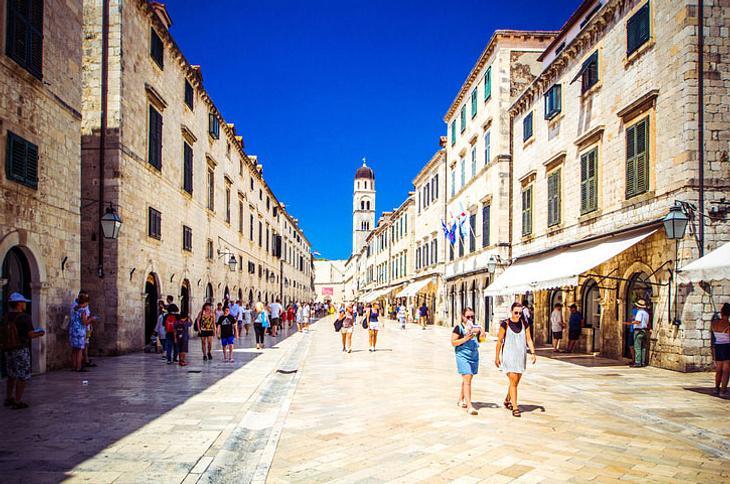 Der Stradun in Dubrovnik.