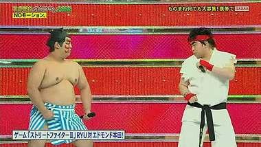 Eine japanische Gameshow hat Street Fighter II mit echten Personen nachgestellt - Foto: YouTube/zetaroy