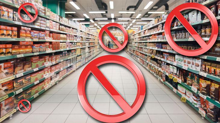 Verbote im Supermarkt