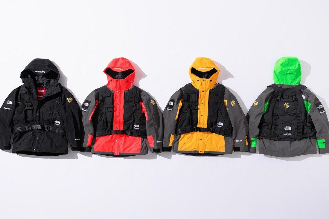 Vier Jacken der neuen Kollektion von Supreme und The North Face