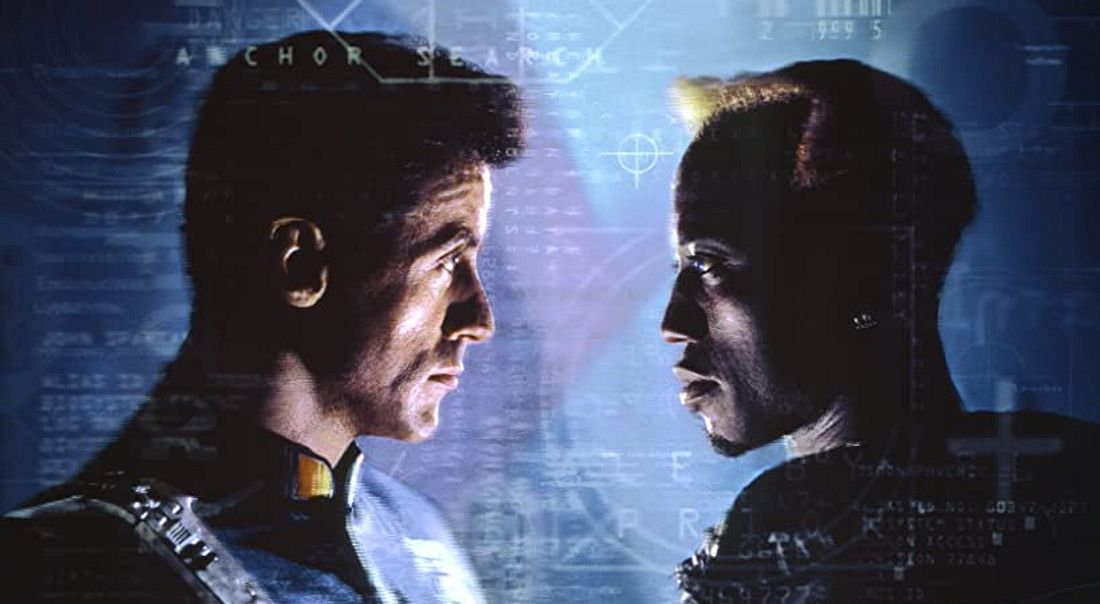 Sylvester Stallone und Wesley Snipes in Demolition Man