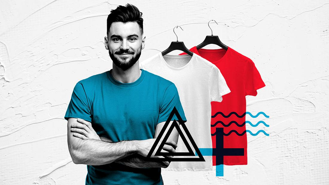 Mann im T-Shirt